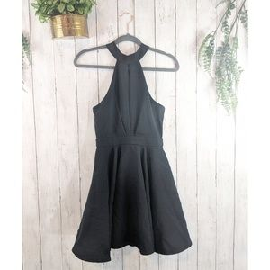 Lulu's little black skater cute short dress